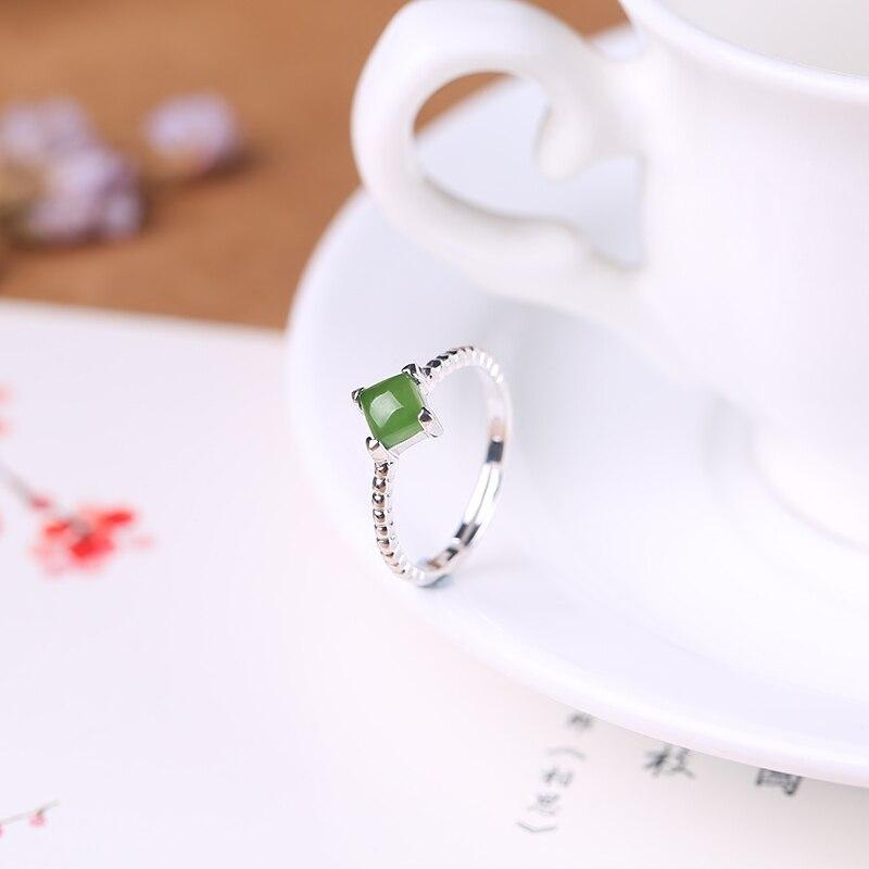 2019 ограниченное по времени ограниченное количество Anel Masculino Anel натуральное кольцо для женщин 925 Стерлинговое открытие Hetian Gem женские Символ... - 3