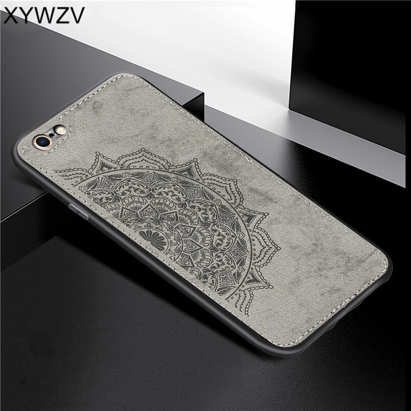 For Apple Iphone 6 6S Shockproof Soft TPU Silicone Cloth Texture Hard PC Phone Case 6s Cover