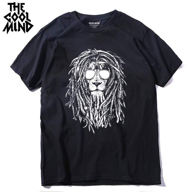 COOLMIND QI0124A Summer cool fashion Cotton Men T Shirt cool O-Neck Short Sleeve crewneck brand Casual Man T-Shirt tee shirt