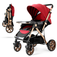 Baby strolller Portable Folding Baby Carriage High landscape Umbrella Baby Child Convenient Stroller Windproof Foot Cover