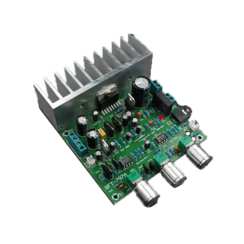 Subwoofer bordo dell'amplificatore di TDA7379 tre-canale 64 w single-alimentazione AC-DC 12 v bordo amplificatore auto