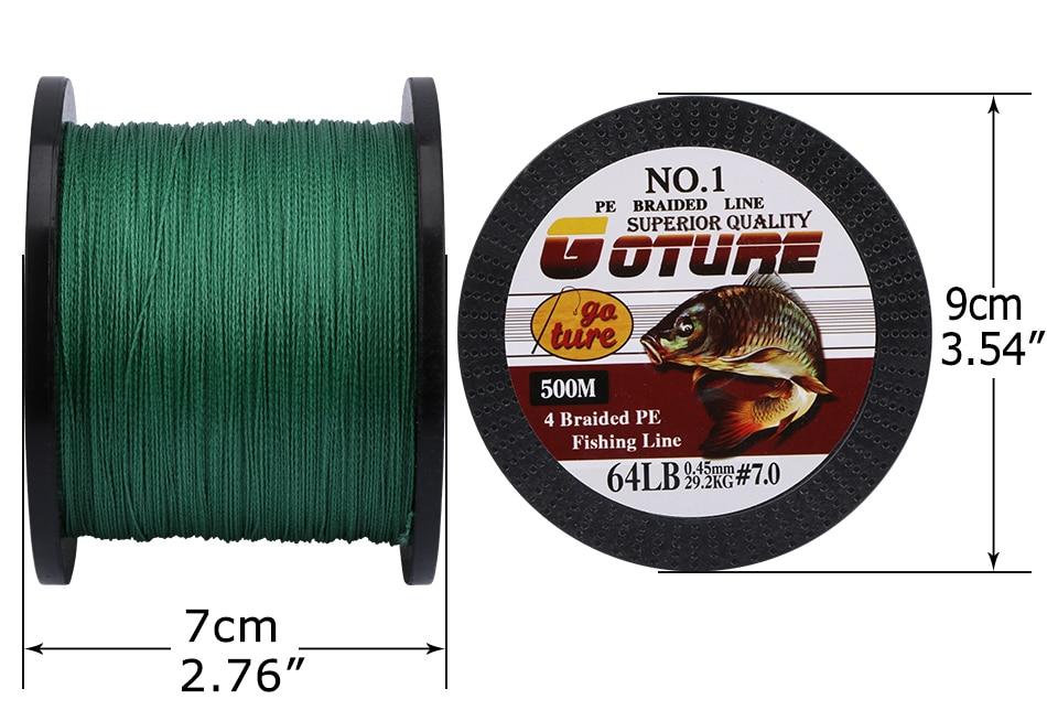 Goture 500m 4 fios 10-80lb trançado linha