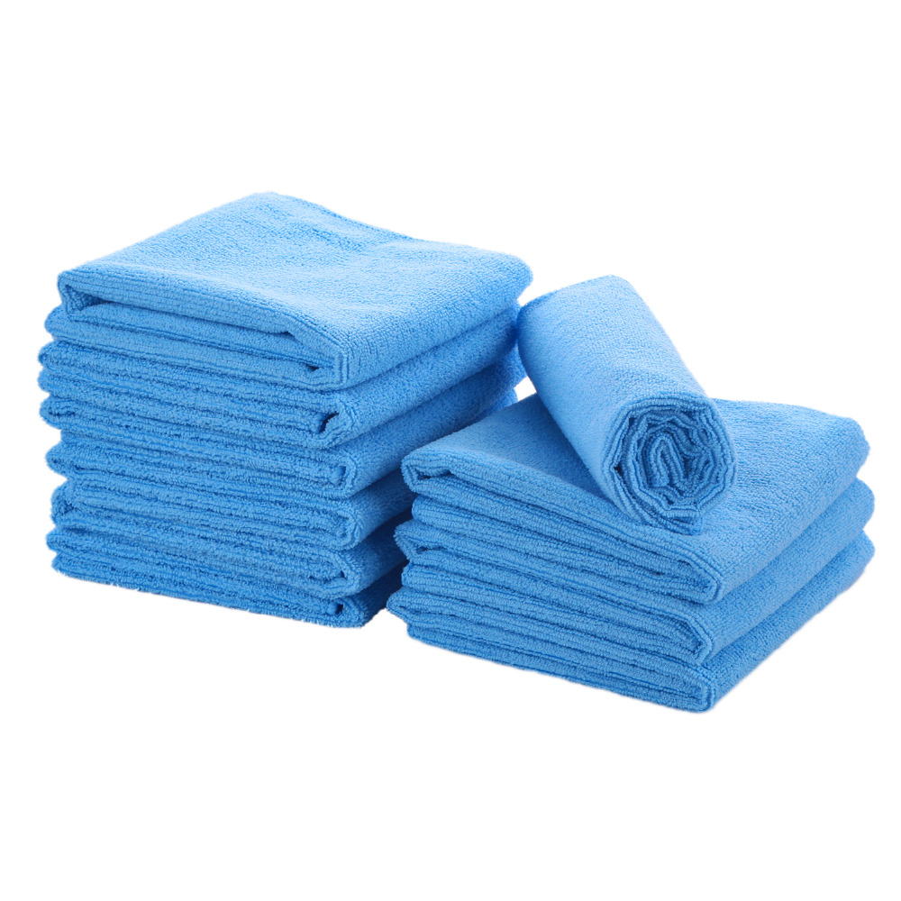 Pack of 5 ehome thick microfiber cleaning cloth set are for Perfect kitchen cleaner