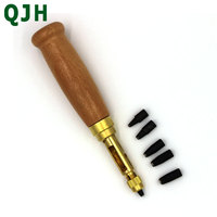 5 Hole Sizes Automatic Belts Screw Punch Mute Rotary Punching Steel Belt Hole Leather Craft Tools