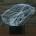 2016 NOVO Produto 3D Forma Do Carro Lâmpada Colorido Gradiente Lâmpada de Humor Interruptor de toque Acrílico Luz CONDUZIDA Da Noite como Presente para As Crianças Menino amigo