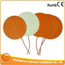 Низкая Напряжение 12 В Гибкая силиконовая Нагреватель круглый 150 мм, 100W@ 12 В