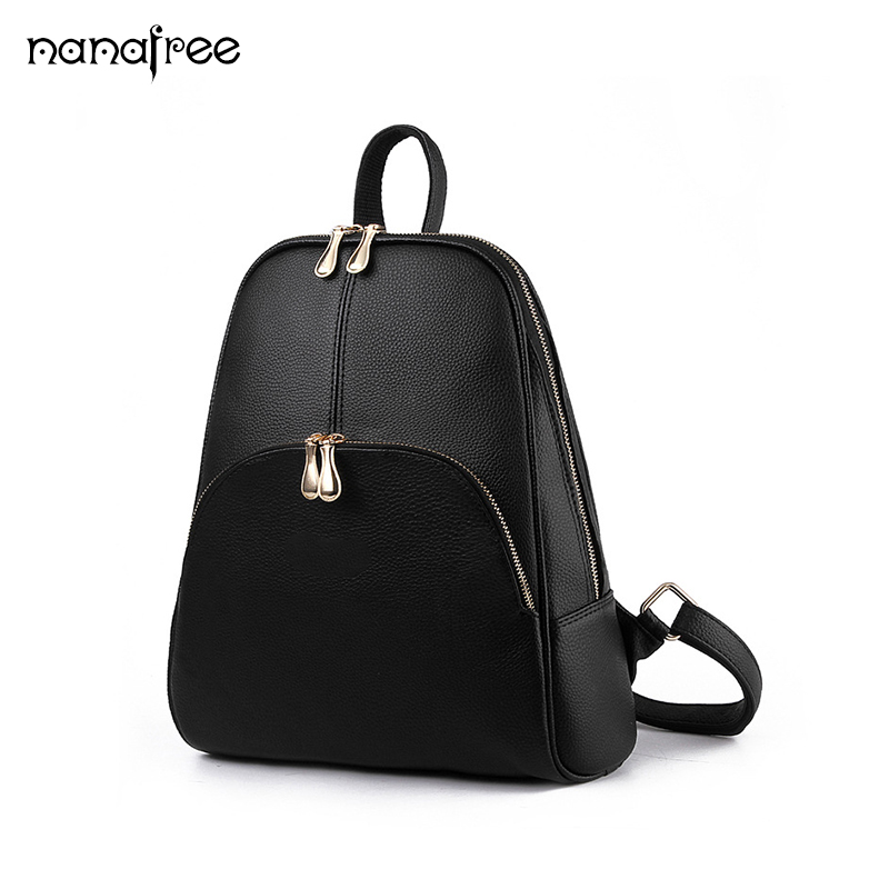 Nanafree Fashion Backpack Children Schoolbag Back Pack Leisure Korean Ladies Knapsack Laptop Travel Bags for School Teenage Girl