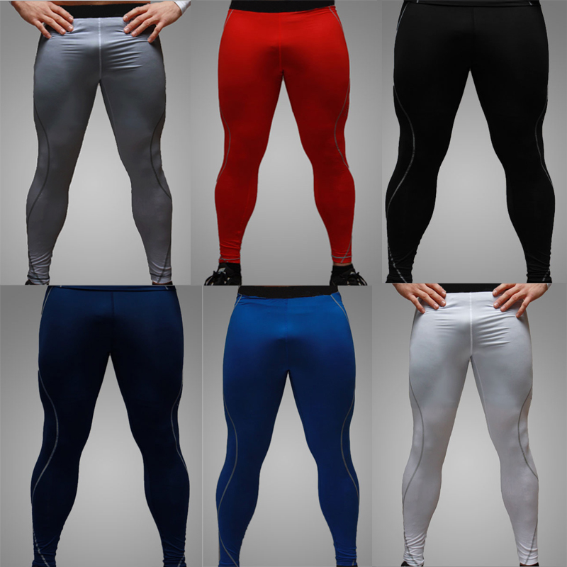 Basketball Tights Sports Leggings Pants Running Fitness Elastic Compression Pants Sweatpants Bodybuilding Gym Trousers For Men 0