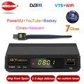 Новый GTmedia v7 обновленный цифровой спутниковый ТВ-приемник Full 1080P DVB-S2 V7S HD + USB WIFI с 1 летним Европейским декодером
