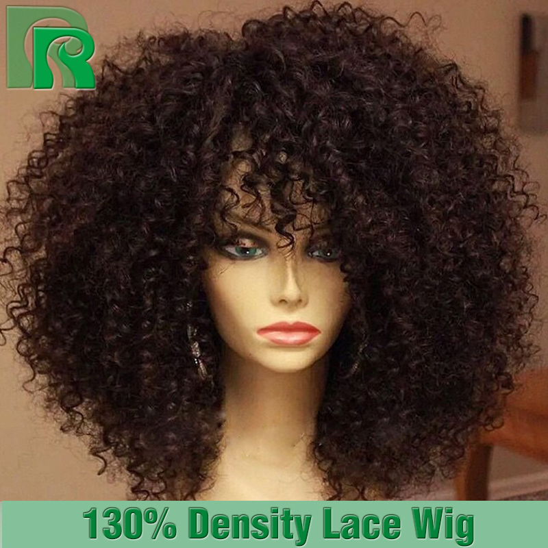Cheap Full Lace Wigs With Baby Hair Brazilian Afro Kinky