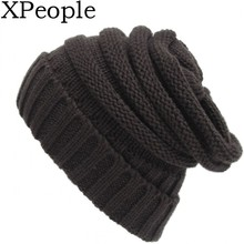 XPeople Winter Hats for Women Warm Chunky Soft Stretch Cable Knit Beanie Skully Ski Cap Drop Shipping