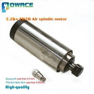 Image 2 - [STOCK Europeo] calidad 2,2 kW de husillo motor refrigerado por aire ER20 Runout off 0,01mm rodamiento de cerámica grabado molienda