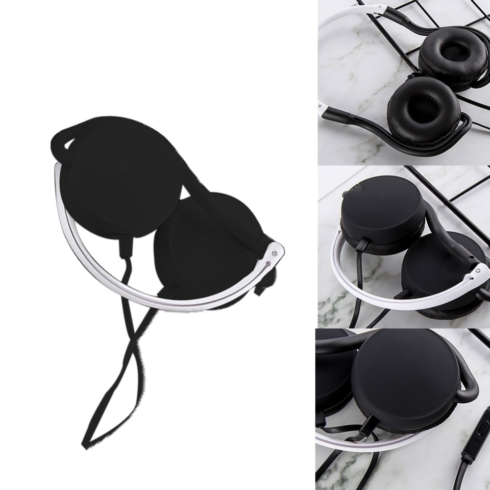 eCos 3.5mm Foldable Portable Wired Stereo Headphones Foldable Headset Super Bass Earphones #292673