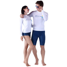 SABOLAY Diving Suit Sun Protection Clothing Solid Professional Long Sleeve Swim Trunks Swimming Suits Wet for Men Women