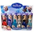 Alta Calidad 6 Unids/lote Boneca 17 cm Elsa Doll Para Niñas Juguetes Fiebre 2 Princesa Ana Y Elsa Muñecas Ropa De Muñecas Los Niños FW298