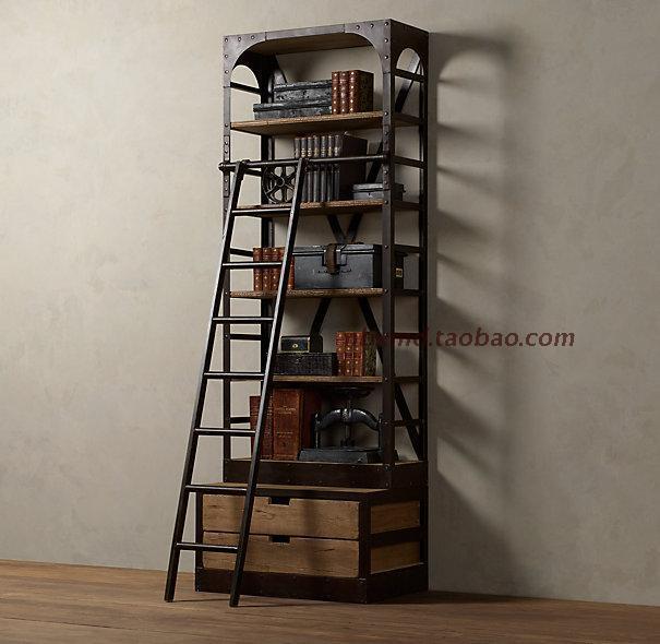 Estilo LOFT hierro forjado escalera con hierro forjado antiguo ...