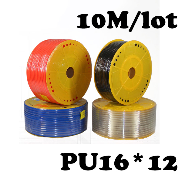 PU Pipe 16*12mm for air & water 10M/lot  ID 12mm OD 16mm Pneumatic parts pneumatic hose купить