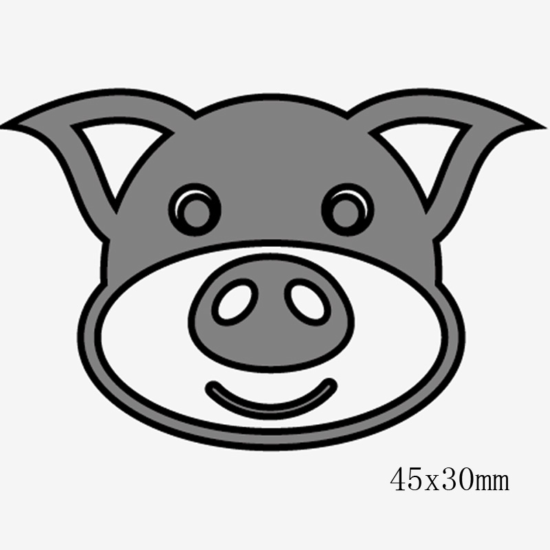 New Cute Animals Avatar Metal Cutting Dies Deer Dog Pig Bear Hippo Craft dies for DIY Scrapbooking Paper Cut Cards Stamps in Cutting Dies from Home Garden
