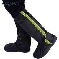Unisex Fluorescent Rain Shoes Cover Boots Reusable Rain Cover For Shoes Waterproof Motorcycle Rain Shoes Cover Non Slip Boots