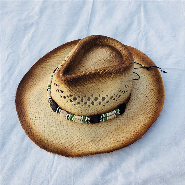 866b10013f2 Summer Classic Western Cowboy Straw Hat for Men Women Beach Felt Sunhats  Party Cap Unisex Hollow