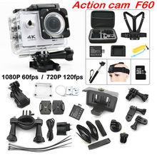 F60 Wi-Fi действие Камера 4 К экстремальные мини дайвинг действий Cam Go Водонепроницаемый Pro камеры Спорт