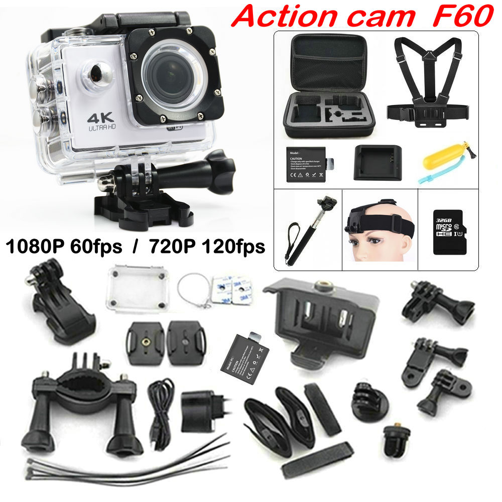 F60 Wifi font b Action b font Camera 4K Extreme Mini Diving font b action b