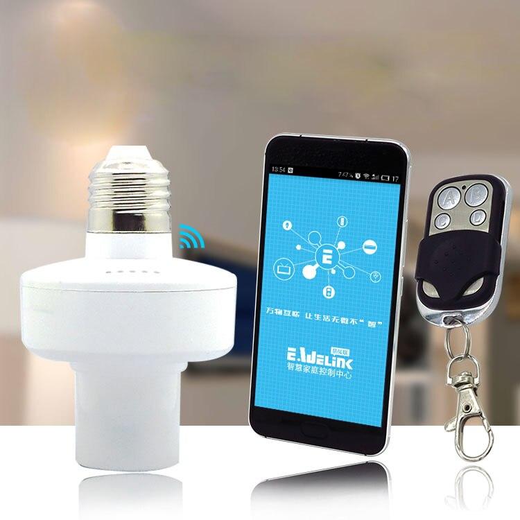 Timer For Light Bulb: 220V app timer switch lampholder 433 RF remoteled bulb wireless wifi remote  light switch ,control Home Sensor for Smart phone,Lighting