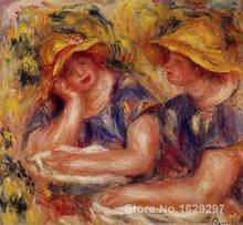 large oil paintings for sale Two Women in Blue Blouses Pierre Auguste Renoir canvas art Handmade High Quality