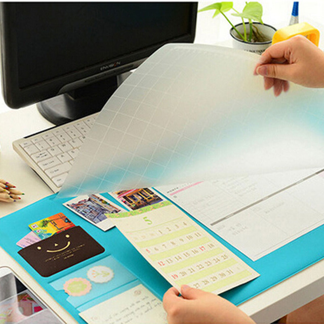 Multi Use Protective Office Desk Mat Mouse Pad Table Organizer Protector