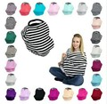 Multi-Use Stretchy Infinity Scarf Baby Car Seat Cover Canopy Nursing Cover Breastfeeding Shopping Cart  Cover High Chair Cover