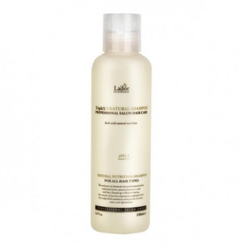 LADOR Triplex Natural Shampoo 150ml Keratin Purifying Shampoo Hair Treatment Healthy Hair Growth Smoothing Anti Hair Loss PH5.5