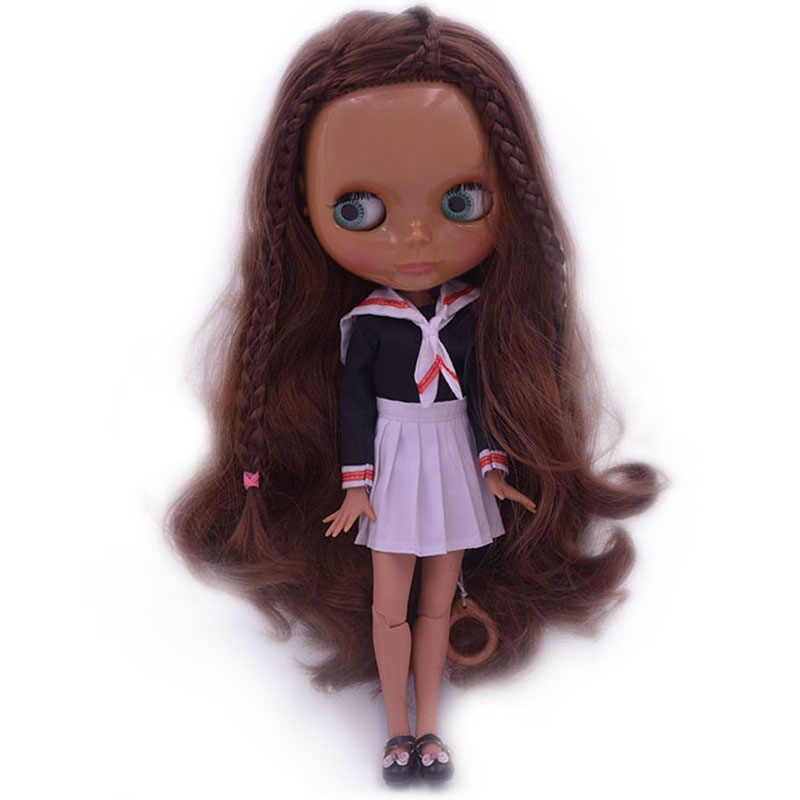 Blyth poupée BJD, usine néo Blyth poupée nue poupées personnalisées peuvent changer robe de maquillage bricolage, 1/6 balle articulée poupées idées cadeaux 17