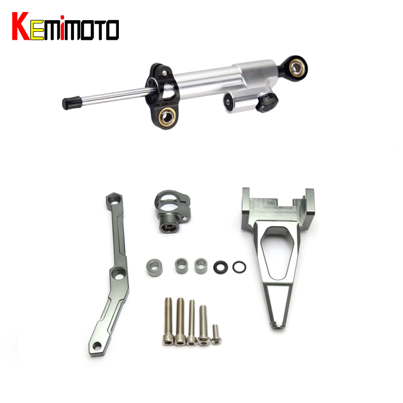 KEMiMOTO For YAMAHA MT-09 FZ-09 MT 09 MT09 FZ09 Motorcycle Accessories Steering Damper With Bracket 2013 2014 2015 2016 2017 bjmoto motorcycle mt09 fz09 adjustable cnc foot rest peg rear set for yamaha mt 09 fz 09 2013 2014 2015 2016