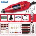 Электрический шлифовальный станок BDCAT 180 Вт  инструмент Dremel  гравировальная Мини дрель  полировальный станок  вращающийся инструмент с 187 шт....