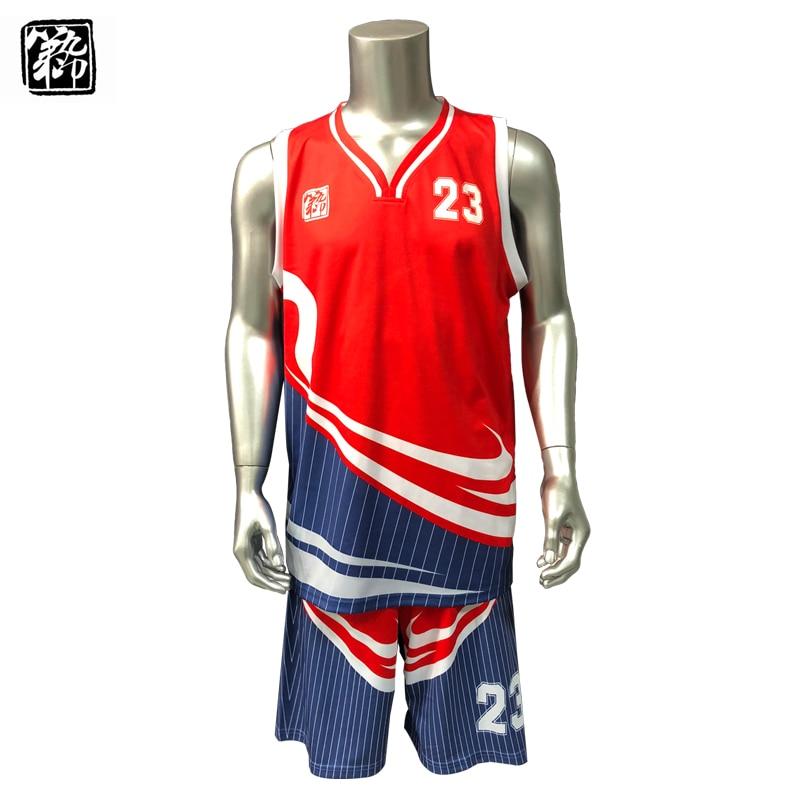Men's basketball sets sportswear basketball jersey jersey student uniforms clothes custom logo sleeveless suit-in Basketball Jerseys from Sports & Entertainment    1