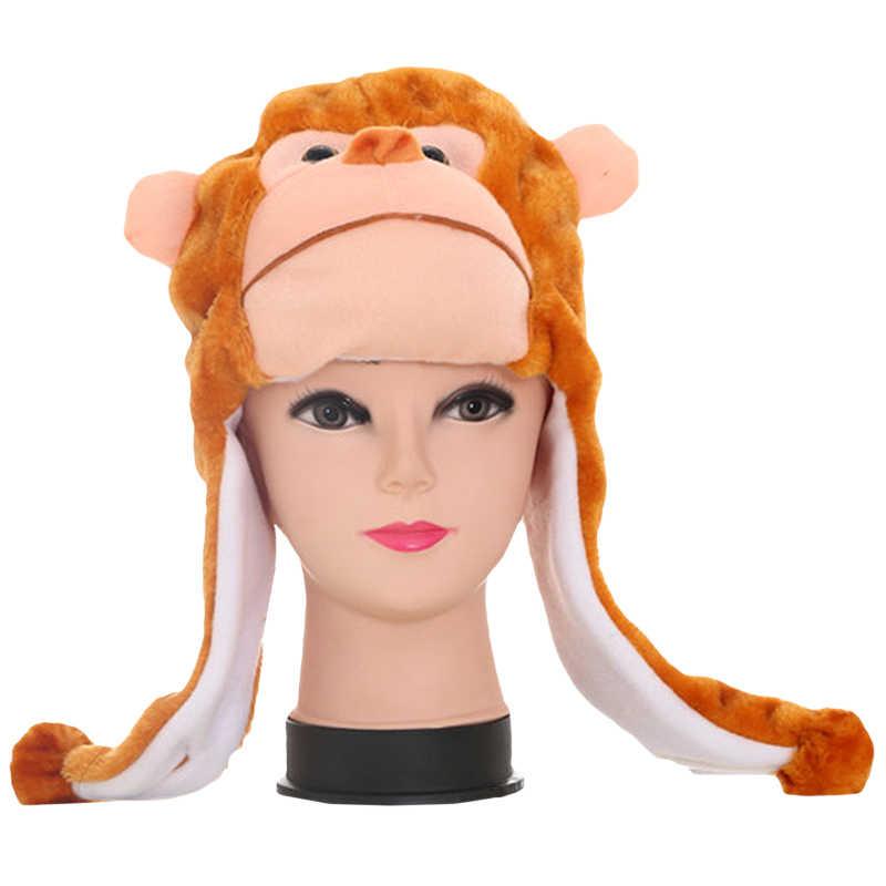 974eb3914d3 ... Cute Plush Cartoon Animal Hats Scarf Adult Child Winter Fluffy Warm  Character Earflap Cap Beanies Novelty