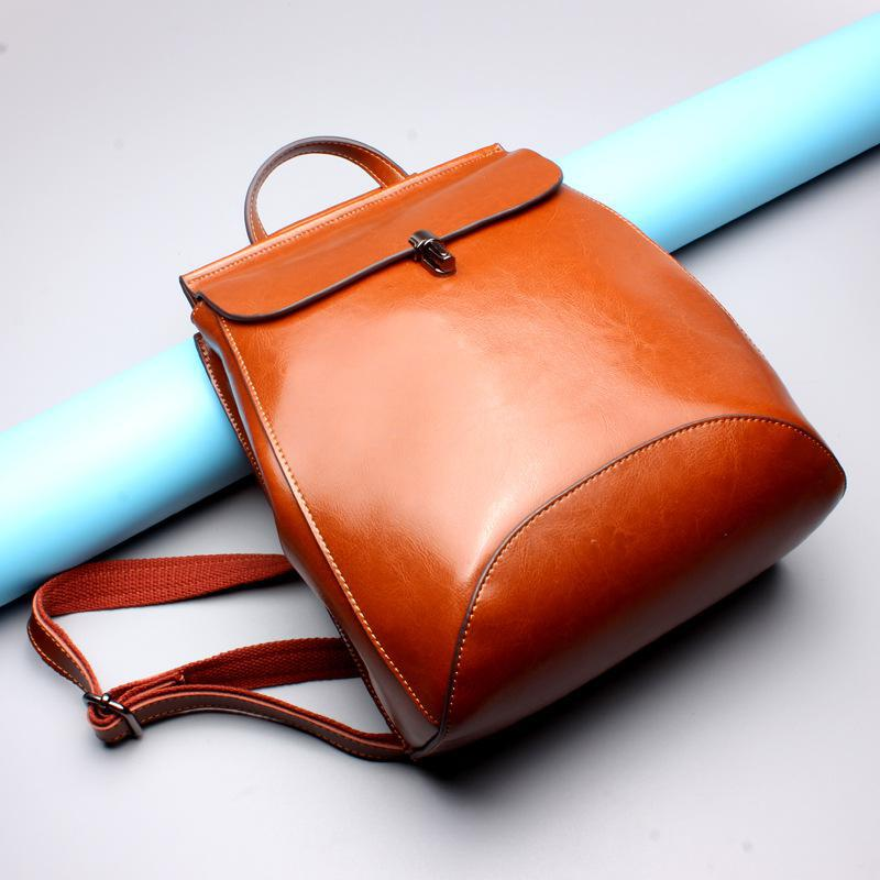 Brand Women Backpack Genuine Leather School Backpacks For Teenage Girls Real Leather Shoulder Bag Large Capacity Travel Bags jmd backpacks for teenage girls women leather with headphone jack backpack school bag casual large capacity vintage laptop bag