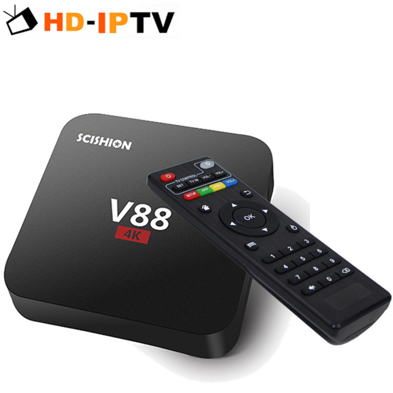 Prix pour 2 PCS DHL Livraison SCISHION V88 Android TV Box RK3229 1G 8G 4 USB 4 K 2 K 60fps KODI 16.1 Lecteur Multimédia Kodi Set Top Box