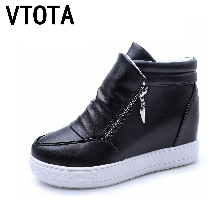 VTOTA  Wedges Shoes Woman Fashion Platform Shoes Women Zapatillas Mujer Casual Plataforma High Heels Shoes Women Sneakers D5
