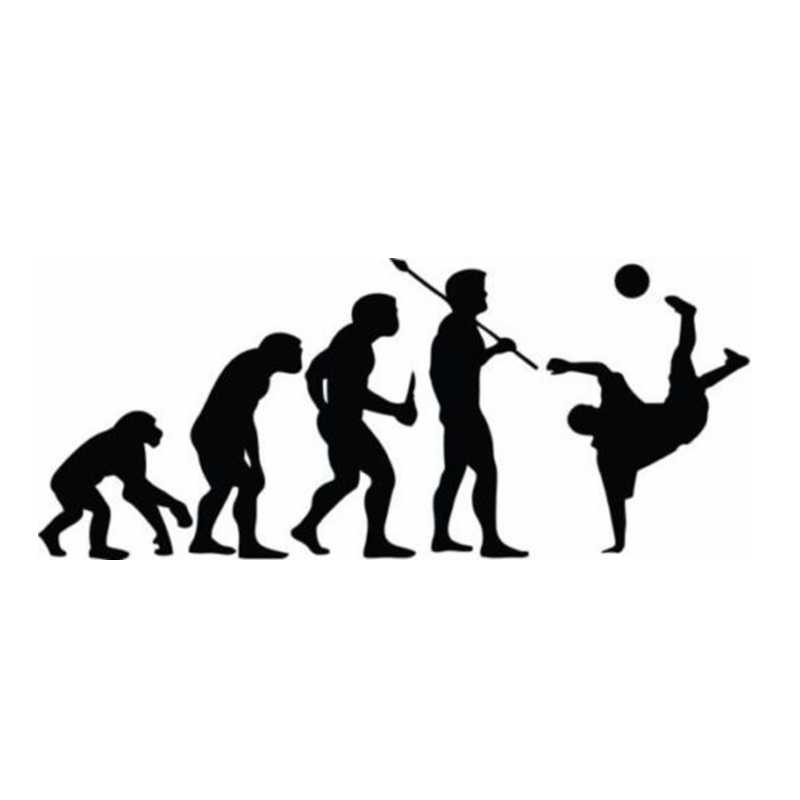 Evolutie Voetbal Speler Sticker Sport Decor Helmen Kinderkamer Decoratie Posters Vinyl Voetbal Auto Decal Muurstickers