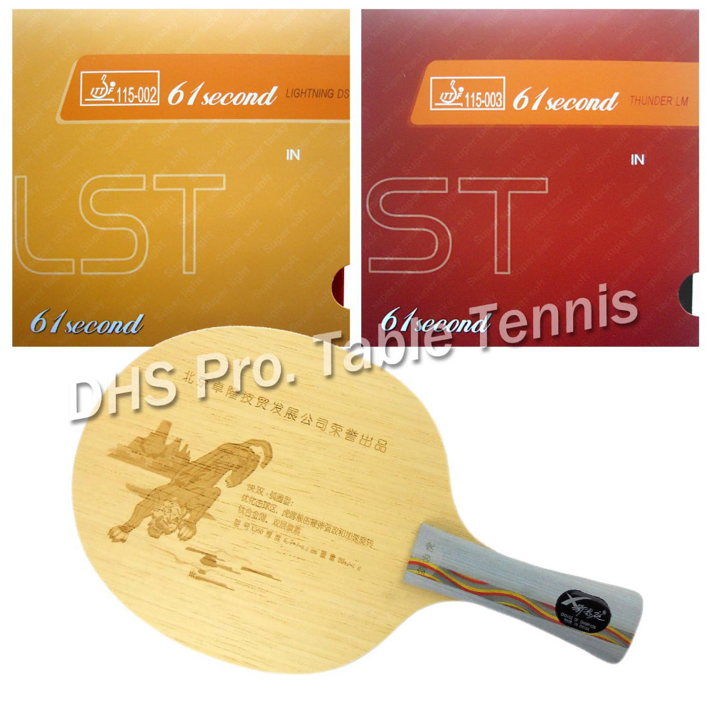 pro table tennis combo paddle racket xnt x560 with 61second ds lst and lm st long shakehand fl