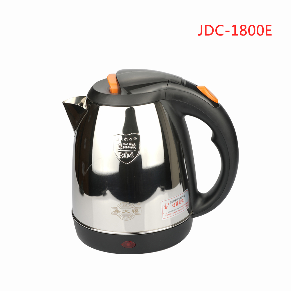 JDC-1800E 1.8L Home appliance Household Stainless Steel Electric Kettle With Auto-Off Function Quick Heat Water Heating Kettle dsp kitchen appliances safety auto off function quick heat electric kettle water boiler heating large capacity 1 7l 1850 2200w