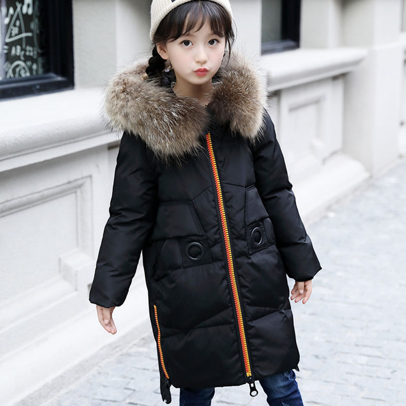 Christmas white duck down big girl jackets girls outerwear coats hooded clothing little children jackets winter kids clothes buenos ninos thick winter children jackets girls boys coats hooded raccoon fur collar kids outerwear duck down padded snowsuit