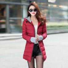 2016 новый женский пальто толстые капюшоном женщин зимняя куртка долго раздел пальто молнии твердые парки тонкая талия пальто женские куртки WJ71