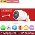 PoE комплект проводов # H.264 + VBR 3DRN ONVIF HD 720 P ip-камеры 1mp p2p сеть cctv камеры безопасности видеонаблюдения GANVIS GV-Z122 pk