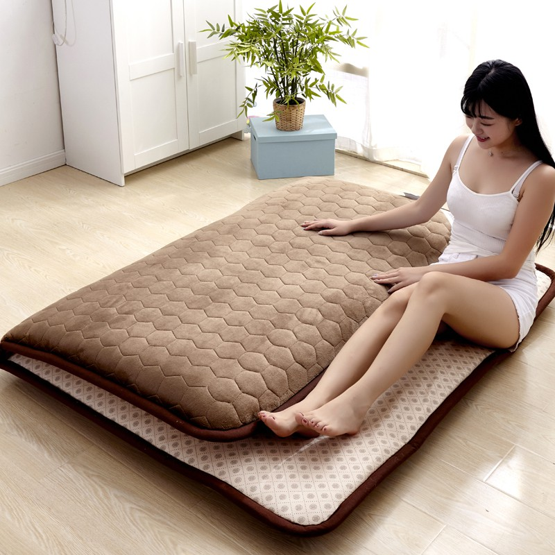 5CM Thickness Mattress Flannel Breathable Bed Mat Student Dormitory Single Mattress Non-slip Tatame Bedroom Mat