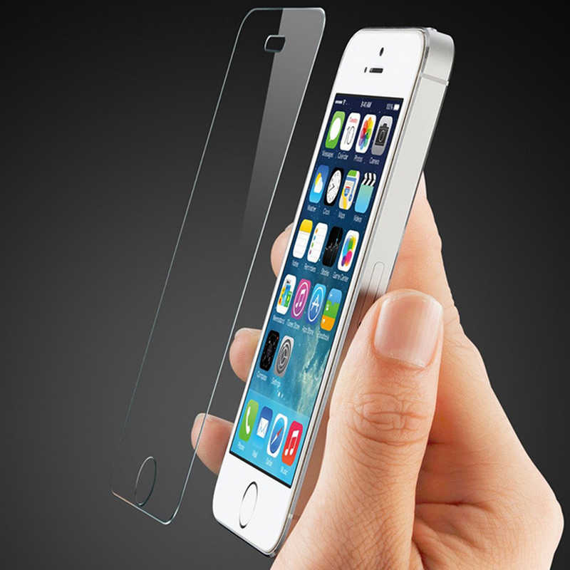 KARRIBECA 9 H قوس الزجاج المقسى واقي للشاشة ل فون 5 5 ثانية 5C SE شاشة الحرس vidrio pantalla الميكا Pelicula vidro