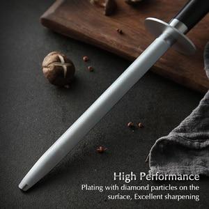 Image 3 - XINZUO ostrzałka do noży akcesoria kuchenne ostrzałka ze stali nierdzewnej o wysokiej zawartości węgla szlifierka do drewna palisander lub hebanowy uchwyt
