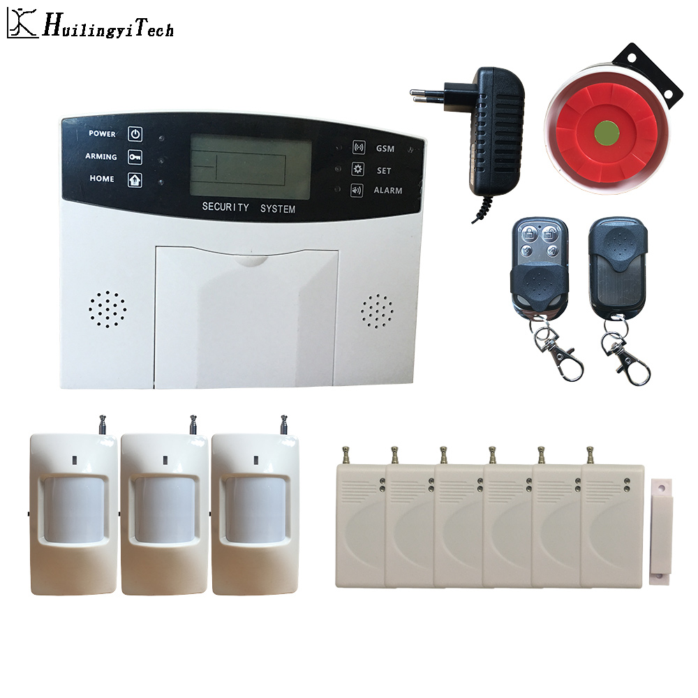 3Wireless PIR 6Door Magnet Sensor Gsm Alarm System GSM SMS Home Burglar Proof Security Alarm System House Gsm Security System
