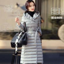 Black purple silver coat duck down jacket women parka womens winter jackets and coats hooded over-the-knee cotton-padded jacket